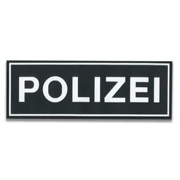 Rubberpatch Polizei (Größe L  32,5 x 10 cm)