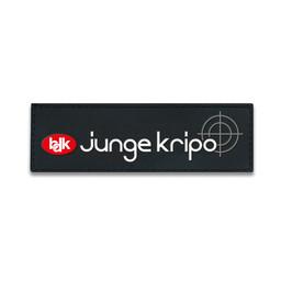 Rubberpatch Junge Kripo ( Größe S 12 x 3,8 cm ) - in Kürze verfügbar