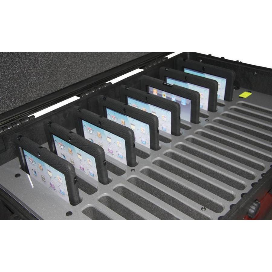 """iNsync C14; robuster Koffer für 30 iPad Air und 10 """"-11"""" -Tablets, Koffer / Rollwagen mit Schloss für Aufbewahrung, Laden, Synchronisation & Transport-2"""