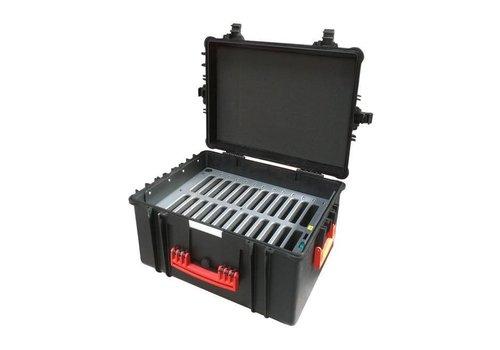 """Parotec-IT charge & sync C60 Koffer fuer iPad mini und 8"""" Tablets ohne und mit Schutzhuelle"""