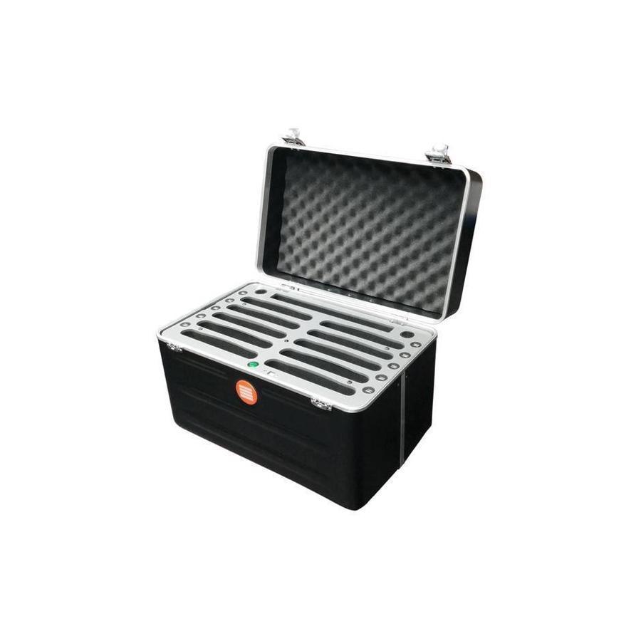 """iPad mini Transportkoffer mit Ladefunktion für 10 iPad mini und Tablets bis 8 """"; iNcharge C525-1"""