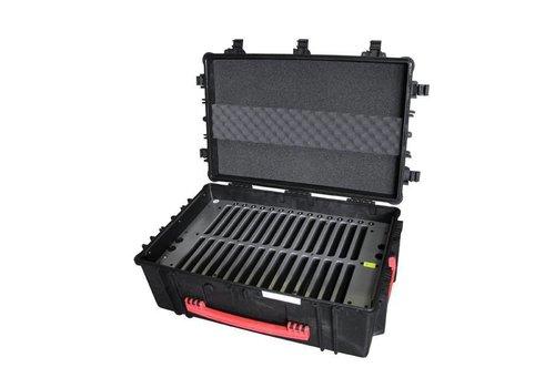 """Parotec-IT charge & sync C16 Koffer fuer 30 iPad mini und 8"""" Tablets ohne und mit schlanke Schutzhuelle"""