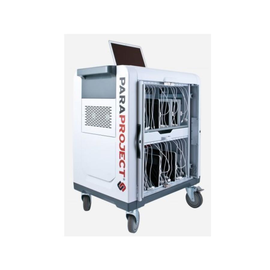 32 Geräte PARAPROJECT Lagertrolley mit Aufladung und Synchronisier Funktion, Kapazität 32 iPads und Tablets-1