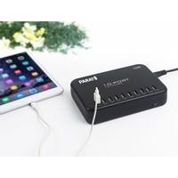 thumb-Ladestation mit 10 USB Anschlüssen auf einem Schuko/Netzkontakt-4