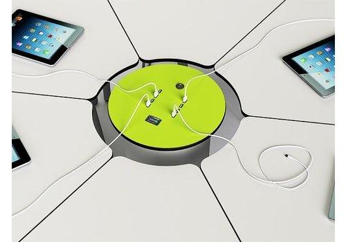 Zioxi Mobile Stromsäule mit wiederaufladebare Batterie ausgestattet mit  8 USB Anschluesse