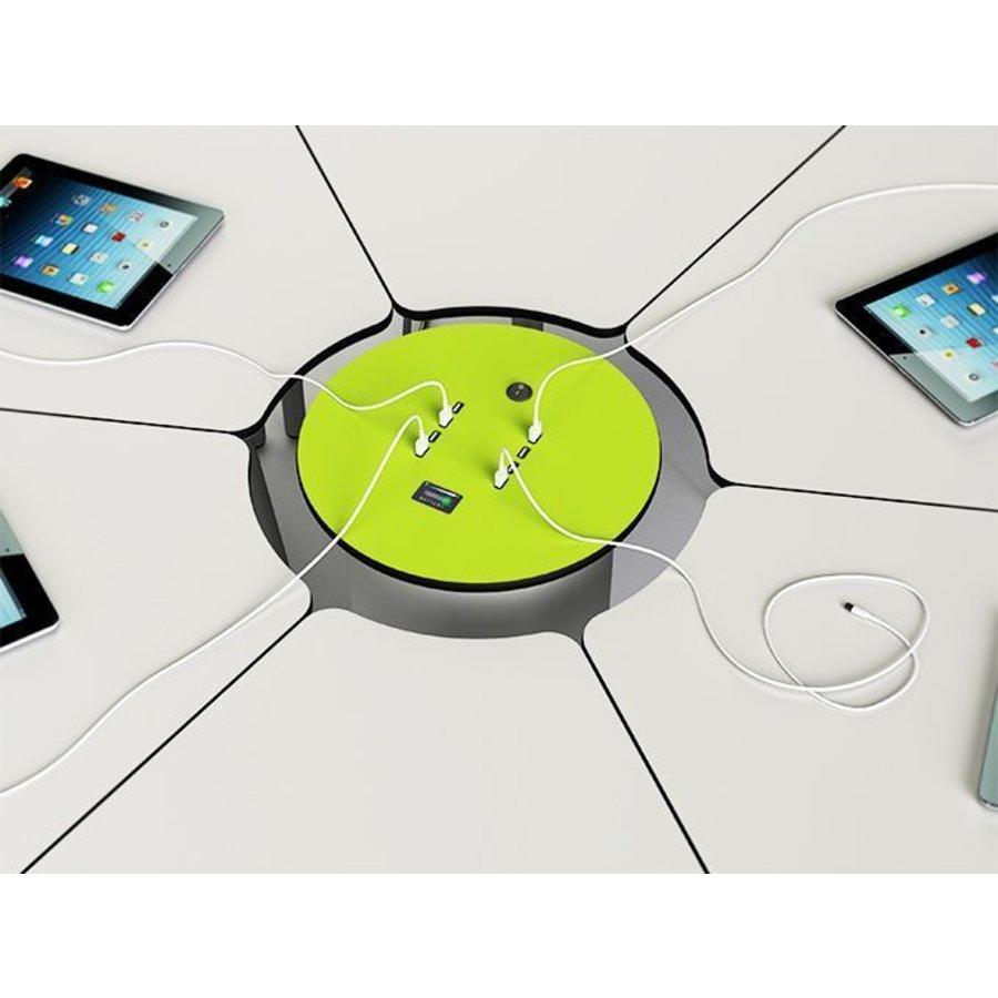 Mobile Stromsäule mit wiederaufladebare Batterie ausgestattet mit  8 USB Anschlüsse-1