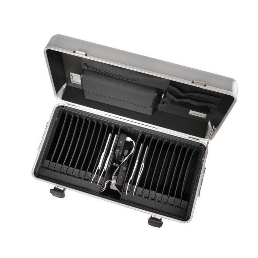 i20 Mobile Ladekoffer für 20 iPads, mit Fächern schwarz-2