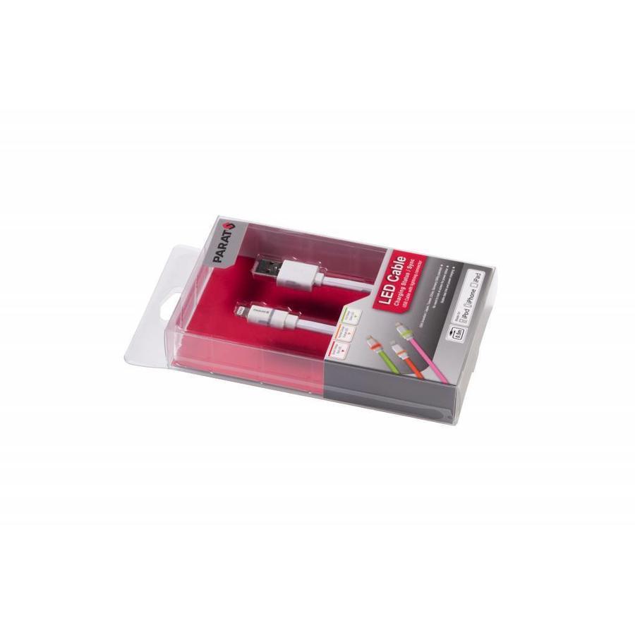 Extra stevige kabel voor iPads op school met LED indicator Lightning-USB-2