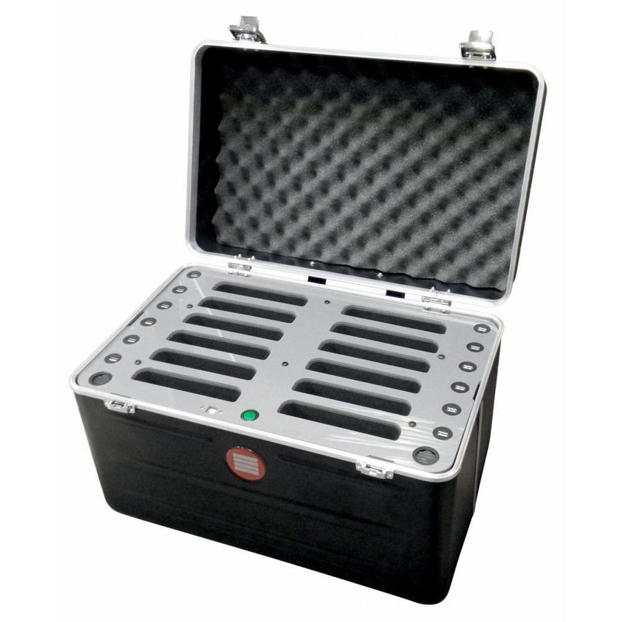 """iPad mini Koffer mit Synchronisierung und Aufladung für 12 iPads und Tabletten bis zu 8 """"; InCharge C457-1"""