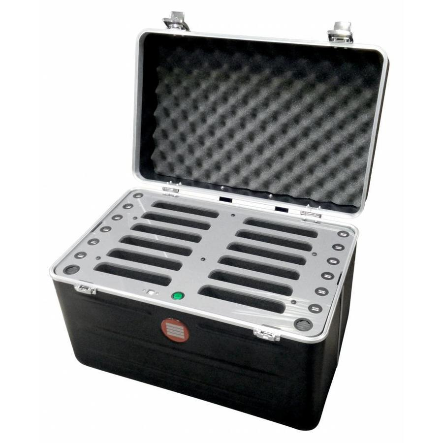 "iPad mini transportkoffer mit Ladefunktionen für 12 iPad mini und tablets bis 8""; inCharge C457-1"