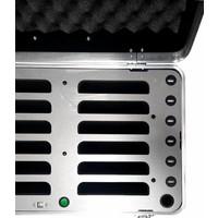 """thumb-iPad mini transportkoffer mit Ladefunktionen für 12 iPad mini und tablets bis 8""""; inCharge C457-4"""