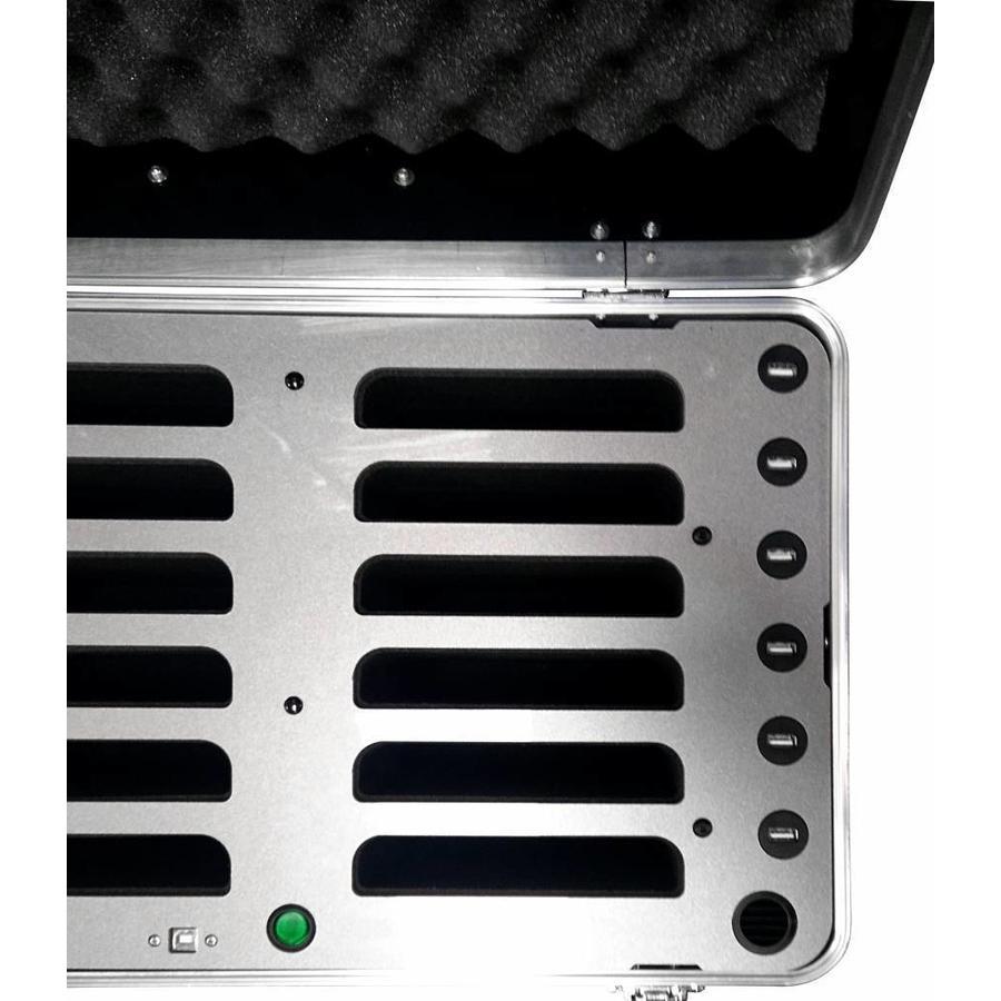 "iPad mini transportkoffer mit Ladefunktionen für 12 iPad mini und tablets bis 8""; inCharge C457-4"