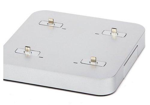 Kiwi Box charge Docking-Station auf einer Tisch fuer 4 Apple Geraete