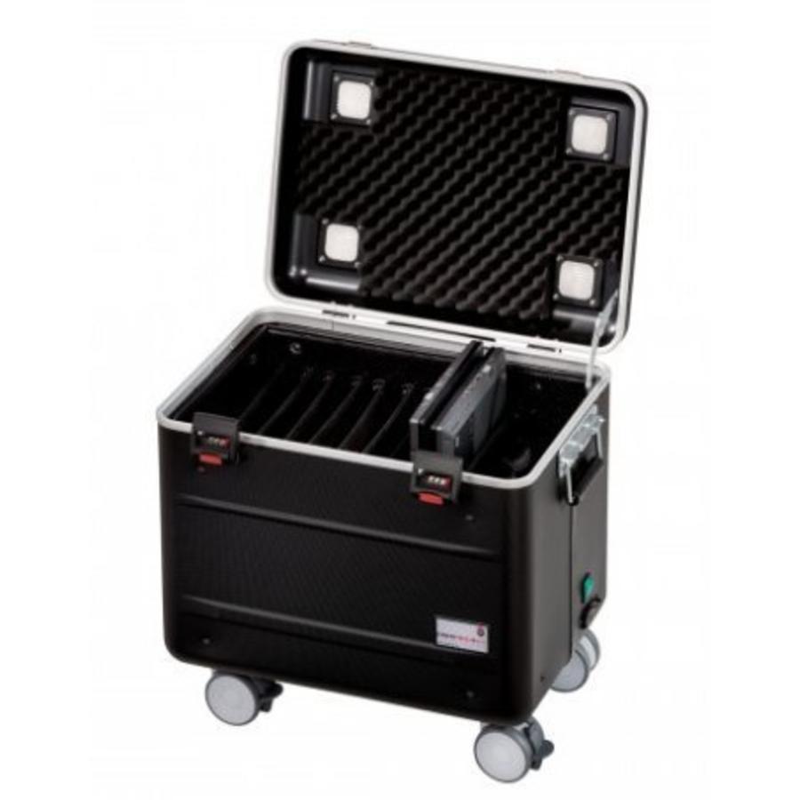 """Mobiele ladeschale schwarz für 10x 15"""" Chromebooks, C10 trolley koffer, mit zehn compartimenten-1"""