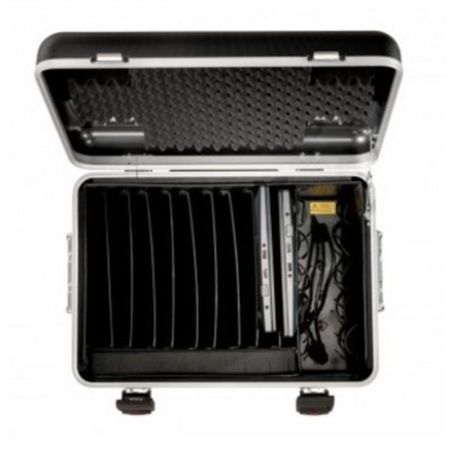 """Mobiele ladeschale schwarz für 10x 15"""" Chromebooks, C10 trolley koffer, mit zehn compartimenten-3"""