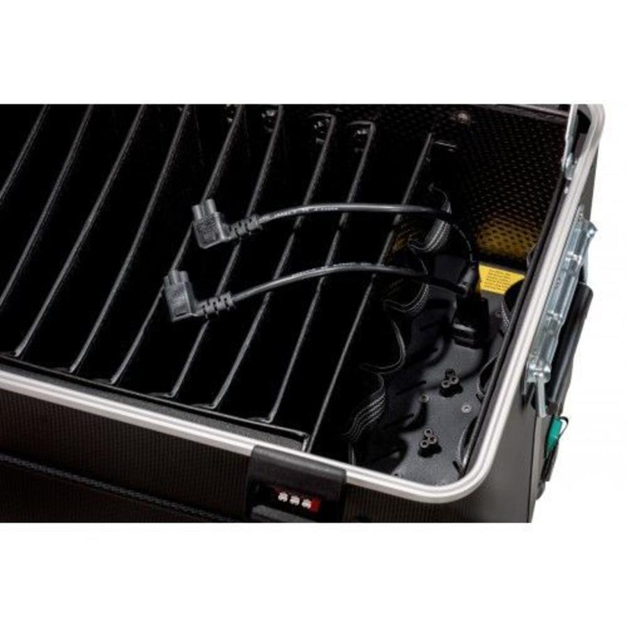 """Mobiele ladeschale schwarz für 10x 15"""" Chromebooks, C10 trolley koffer, mit zehn compartimenten-4"""