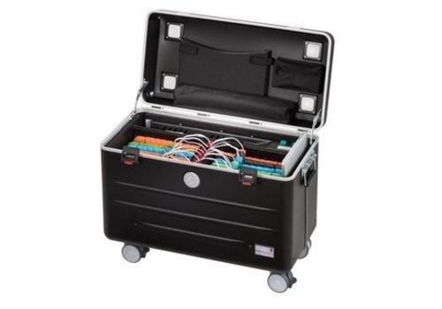 Parat charge N6 Koffer mit Rollen mit 6+6 Einschubfacher schwarz
