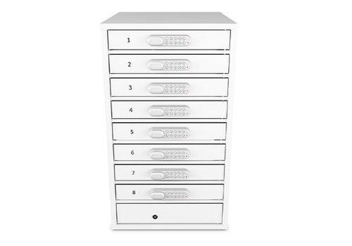 """Zioxi Ladeschrank 8 Sließfächer für Chromebooks/ Macbooks/ Notebooks/ Tablets bis zu 15,6"""""""