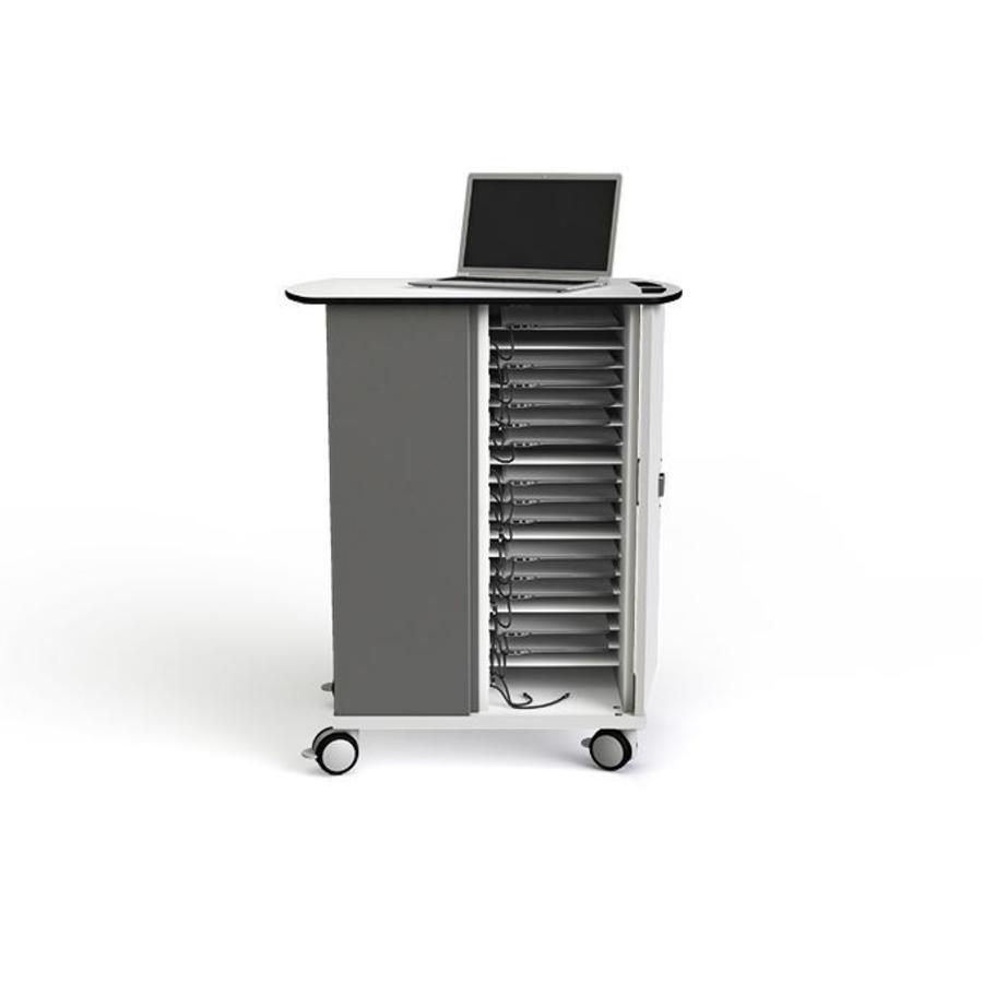Ladewagen für bis zu 20 Macbooks/ Chromebooks / Laptops / Tablets mit ein maximale Bildschirmabmessung bis 14 Zoll-2