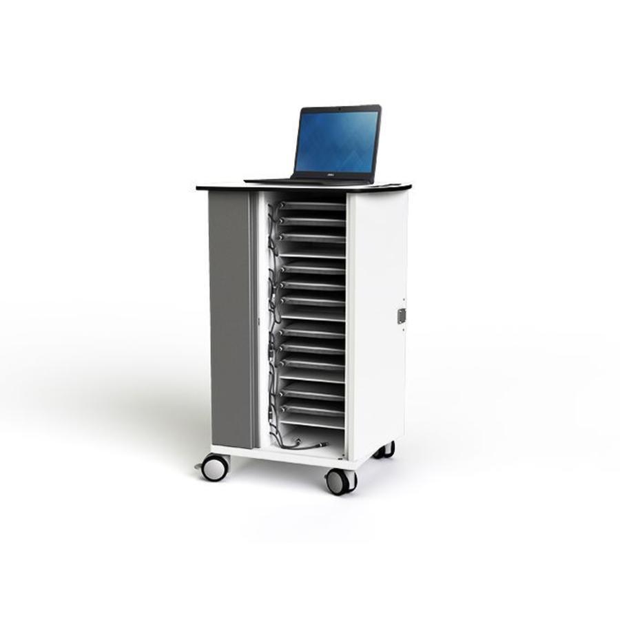 Mobile Ladeschrank für bis zu 20 Macbooks/ Chromebooks / Laptops / Tablets mit ein maximale Bildschirmabmessung bis 14 Zoll-5