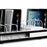 thumb-Desktop-Docking-Ladestation mit Synchronisation 10 iPads und Tablets-2