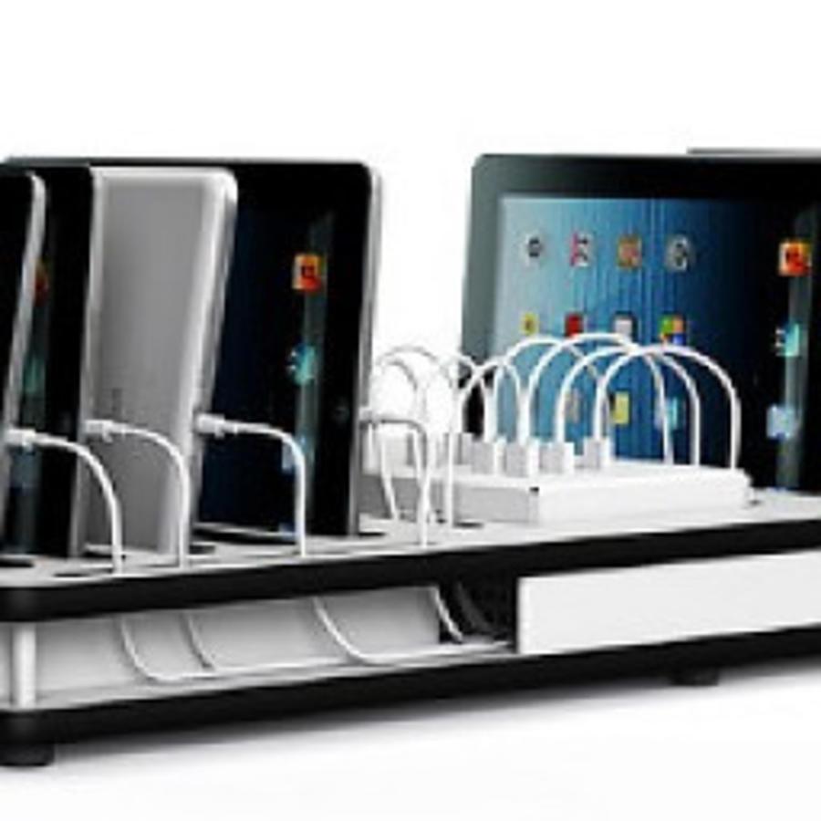 Desktop-Docking-Ladestation mit Synchronisation 10 iPads und Tablets-2