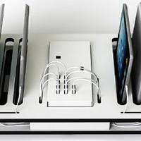 thumb-Desktop-Docking-Ladestation mit Synchronisation 10 iPads und Tablets-1