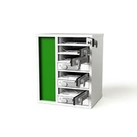 """thumb-Ladeschrank mit 10 separat abschliessbare Fächer für Tablets und iPads zwischen 9""""-11""""-1"""