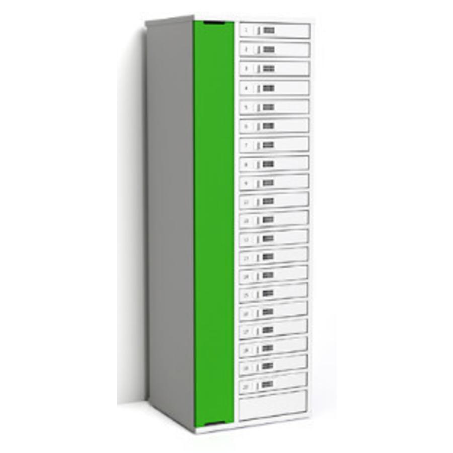 """Ladeschrank mit 20 separat abschliessbare Fächer für Tablets und iPads zwischen 9""""-11""""-5"""