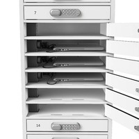 thumb-BYOD Ladespinde 1:1 Laptop / Tablets 16 separate Schließfächer mit Schuko Steckdosen-4
