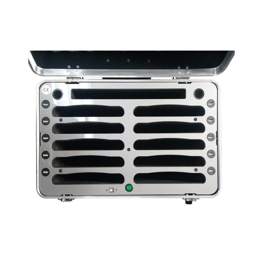 """iPad mini Transportkoffer mit Ladefunktion für 10 iPad mini und Tablets bis 8 """"; iNcharge C525-6"""