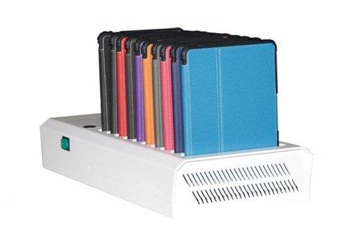 Parotec-IT charge & sync DL10 desktop Ladestation mit autodocking für 10 iPads Hülle einbegriffen