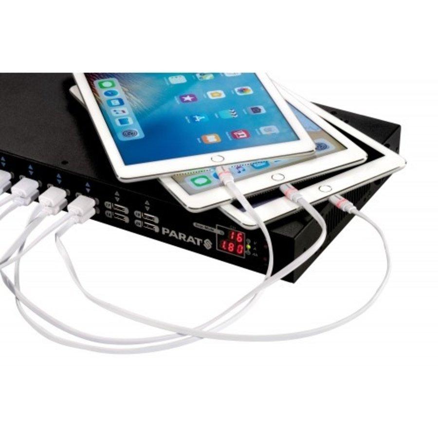Kompakte Lade- und Synchronisationsstation für bis zu 20 Endgeräte. Ersetzt 20x einzelne USB-Netzteile kann bis zu 20 Geräte/ Tablets über USB synchronisieren-3
