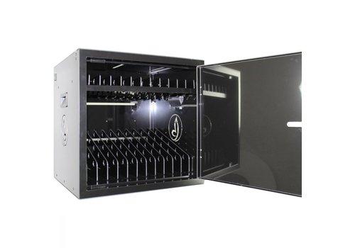 Bravour BRVD12 Ladeschrank für 12 Tablet oder Laptops bis 17 Zoll - Schwarz