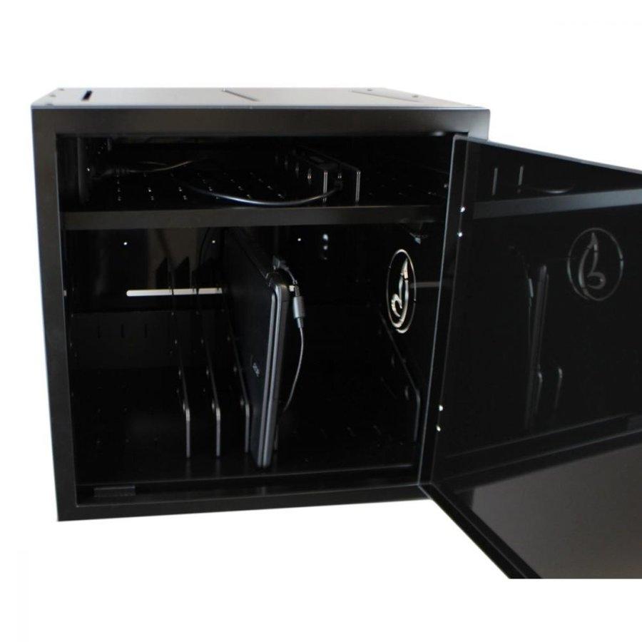 BRVD12 Ladeschrank für 12 Tablet oder Laptops bis 17 Zoll - Schwarz-3