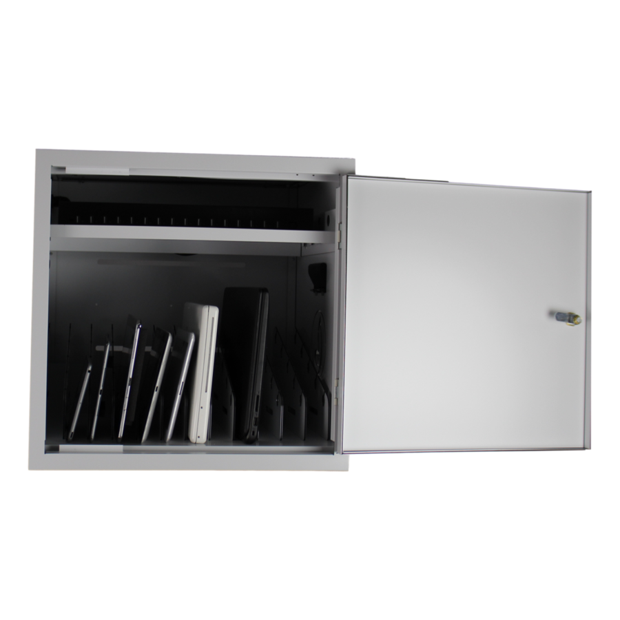BRVD12 Ladeschrank für 12 Tablet oder Laptops bis 17 Zoll - Weiß-5