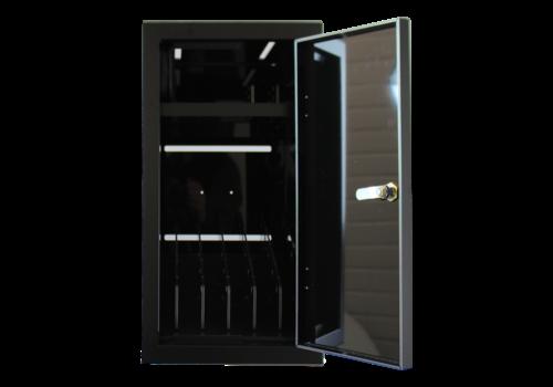 Bravour BRVD6 Ladeschrank für 6 Tablets oder Laptops bis zu 17 Zoll - Schwarz