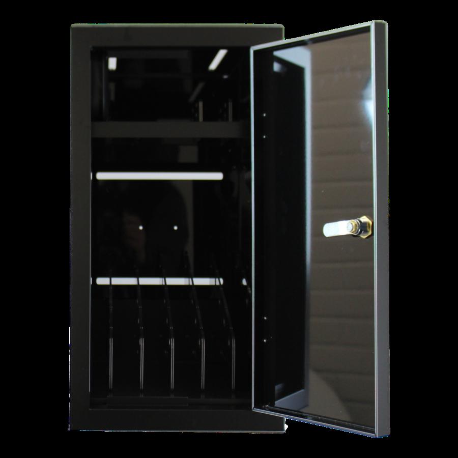 BRVD6 Ladeschrank für 6 Tablets oder Laptops bis zu 17 Zoll - Schwarz-2