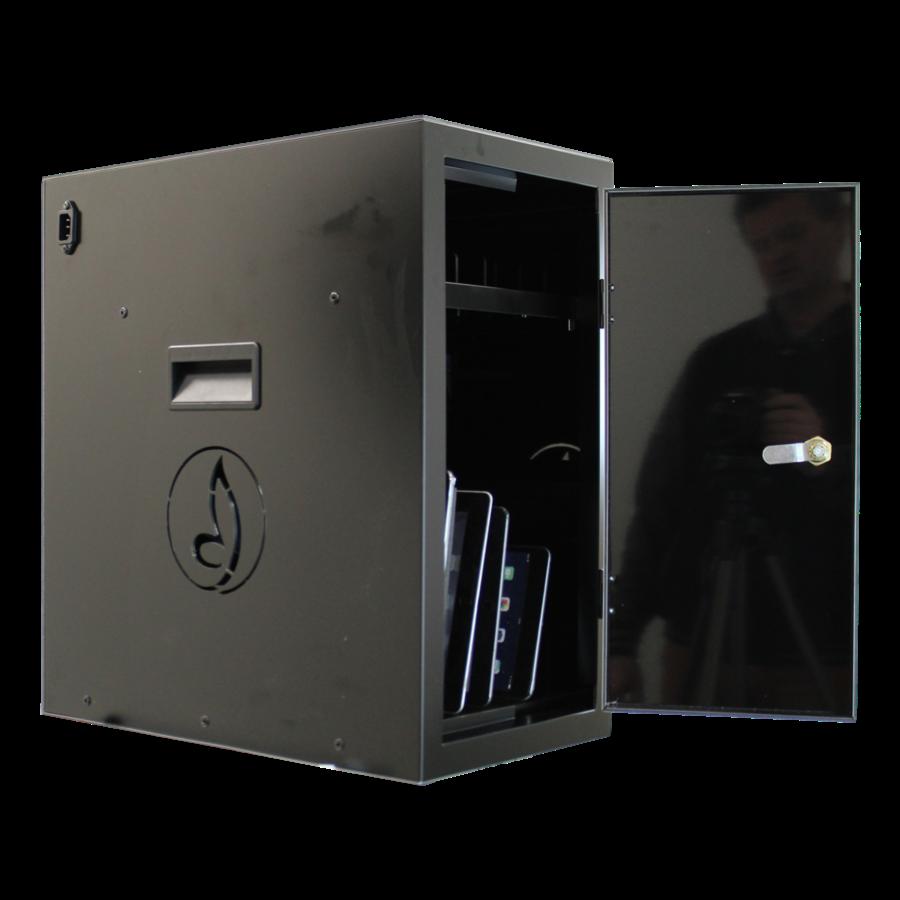 BRVD6 Ladeschrank für 6 Tablets oder Laptops bis zu 17 Zoll - Schwarz-4