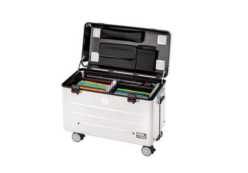 Parat charge & sync i16KC Koffer für 16 iPads mit KidsCover einschliesslich lightning Kabel ohne Fächereinteilung weiß