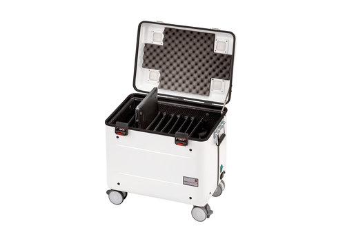 """Parat charge C10 Koffer für 10 Chromebooks bis 15"""" mit Fächereinteilung in weiß"""