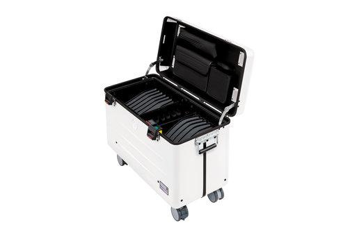 """Parat charge N16 Koffer mit Rollen für Tablets oder Netbooks bis 12"""" mit 16 einschubfächer weiß"""
