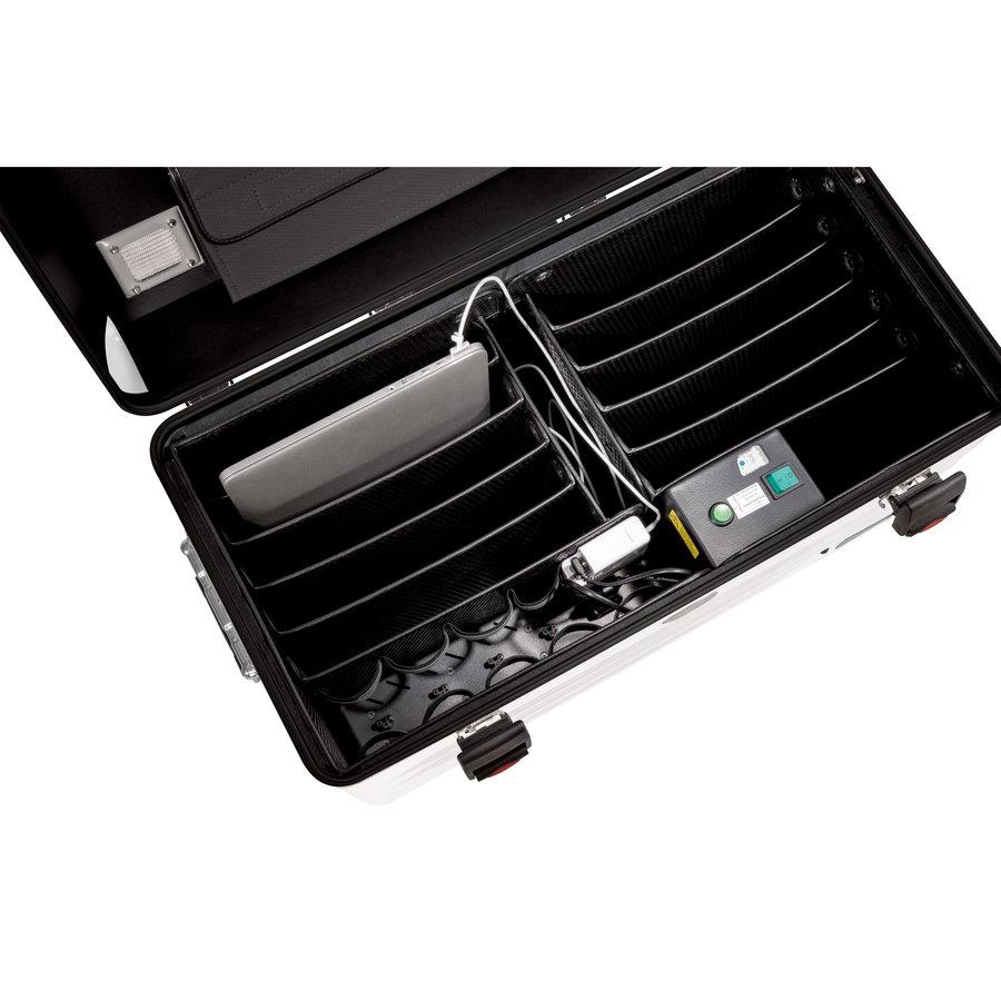 Parat N10 trolley koffer Notebooks für 10x 15,6'' in weiß-3