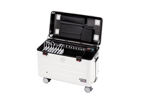 Parat charge & sync i16 Koffer für 16 iPads einschliesslich lightning Kabels mit Fächereinteilung weiß