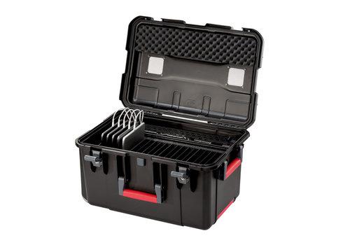 Parat PARAPROJECT Case CC20 CargoCase  für 20 Tablets TwinCharge, USB-C,  mit Fächereinteilung, ohne Kabel  schwarz