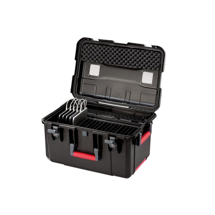 PARAPROJECT Case CC20 CargoCase  für 20 Tablets TwinCharge, USB-C,  mit Fächereinteilung, ohne Kabel  schwarz, Betriebssysteme: Android, iOS, Windows-1