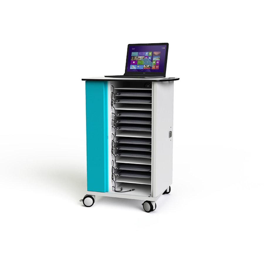 """Zioxi Ladewagen für 16 Laptops bis 15,6 """" mit On-View-2"""