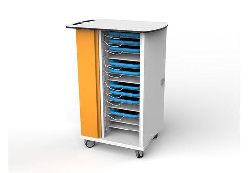 Zioxi Ladewagen für 15 iPads und Tablets bis 11 Zoll in dicken Schutzhüllen
