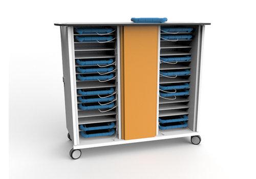 Zioxi Synchronisation & Ladewagen für 30 iPads und Tablets in dicke Schutzhülle