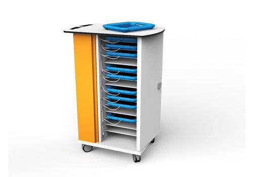 Zioxi Synchronisation & Ladewagen für 15 iPads und Tablets in dicke Schutzhülle